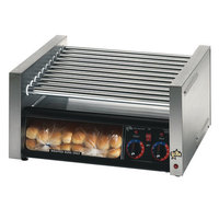Star Grill Max 30CBBC 30 Hot Dog Roller Grill with Chrome Plated Rollers and Bun Drawer with Clear Door