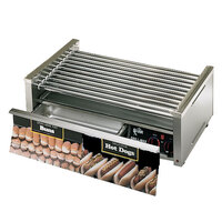 Star Grill Max 50CBD 50 Hot Dog Roller Grill with Chrome Plated Rollers and Bun Drawer
