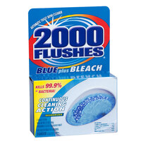 2000 Flushes Blue Plus Bleach Automatic Toilet Bowl Cleaner - 12 / Case
