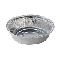 7 inch Round Foil Take Out Pan Standard Weight - 500 / Case