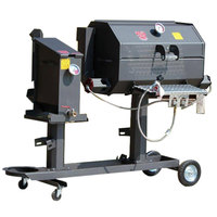 R & V Works Cajun FF2S Fryer and 20 inch Grill Combo - 135,000 BTU, LP