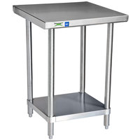 Regency 24 inch x 24 inch 16-Gauge 304 Stainless Steel Commercial Work Table with Undershelf
