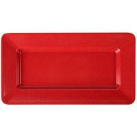 GET ML-10-RSP Red Sensation 15 inch x 8 inch Rectangular Deep Plate   - 12/Case