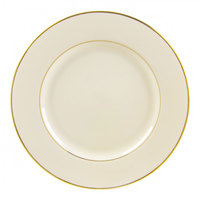 10 Strawberry Street CGLD0024 12 1/4 inch Cream Double Gold Line Charger Plate