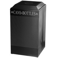 Rubbermaid DCR24C Silhouettes Textured Black 29 Gallon Recycling Receptacle for Cans / Bottles (FGDCR24CTBK)