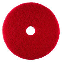 Scrubble by ACS 51-6 1/2 Type 55 6 1/2 inch Red Buffing Floor Pad - Type 55 10 / Case
