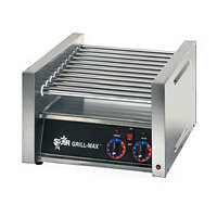 Star 20C Grill-Max 20 Hot Dog Roller Grill with Chrome Rollers - Slanted