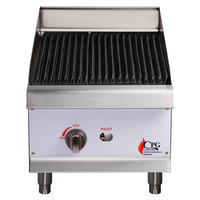 Cooking Performance Group CBL15 15 inch Gas Lava Rock Charbroiler - 40,000 BTU
