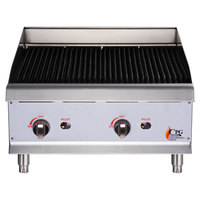 Cooking Performance Group CBR24 24 inch Gas Radiant Charbroiler - 80,000 BTU