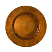 10 Strawberry Street ANT-340(CPR) 13 inch Metallic Copper Glass Charger Plate - 6/Case