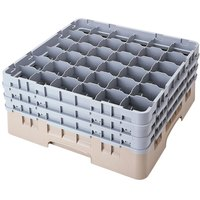 Cambro 36S900184 Beige Camrack 36 Compartment 9 3/8 inch Glass Rack