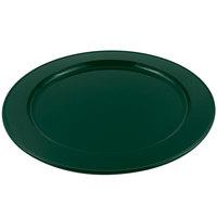 Bon Chef 2048HN 16 inch Sandstone Hunter Green Cast Aluminum Round Platter