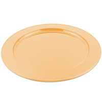 Bon Chef 2048 16 inch Sandstone Ginger Cast Aluminum Round Platter