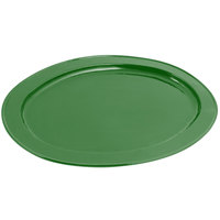 Bon Chef 2045 20 inch x 14 inch Sandstone Calypso Green Cast Aluminum Oval Platter