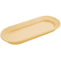 Bon Chef 2310 8 inch x 18 inch Sandstone Ginger Cast Aluminum Trellis Fish Platter