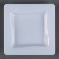 Fineline Tiny Temptations B6200-WH 3 inch x 3 inch White Plastic Tiny Tray - 200/Case
