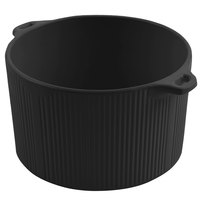 Bon Chef 9145 2 Qt. Sandstone Black Cast Aluminum Pot with Bail Handle