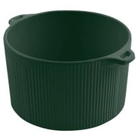 Bon Chef 9145 2 Qt. Sandstone Hunter Green Cast Aluminum Pot with Bail Handle