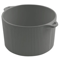 Bon Chef 9145 2 Qt. Sandstone Platinum Gray Cast Aluminum Pot with Bail Handle