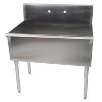 Regency One Bowl 36 inch x 24 inch Stainless Steel Commercial Compartment Sink