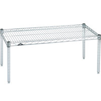 Metro P2430BR 30 inch x 24 inch x 14 inch Super Erecta Brite Wire Dunnage Rack - 800 lb. Capacity