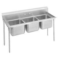 Advance Tabco 9-3-54 Super Saver Three Compartment Pot Sink - 62 inch