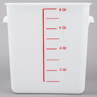 Rubbermaid 9F06 8 Qt. White Square Food Storage Container (FG9F0600WHT)