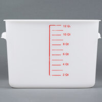Rubbermaid 9F07 12 Qt. White Square Food Storage Container (FG9F0700WHT)