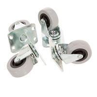 2 inch Screw In Swivel Plate Casters - 4 / Set