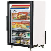 True GDM-7F-LD White Countertop Display Freezer with Swing Door - 7 cu. ft.