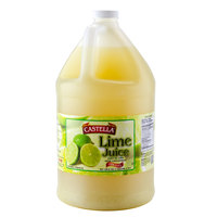 Castella 100% Lime Juice 1 Gallon Bottle - 4/Case