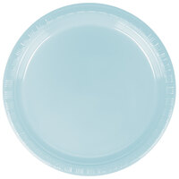 Creative Converting 28157011 7 inch Pastel Blue Plastic Lunch Plate - 240/Case