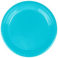 Creative Converting 28103921 9 inch Bermuda Blue Plastic Dinner Plate - 240/Case