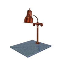Hanson Brass SLM/GB/SC Single Lamp 18 inch x 20 inch Smoked Copper Carving Station with Natural Granite Base