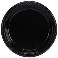 Creative Converting 28134021B 9 inch Black Velvet Plastic Dinner Plate - 600 / Case
