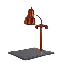 Hanson Brass SLM/BB/SC Single Lamp 18 inch x 20 inch Smoked Copper Carving Station with Synthetic Granite Base