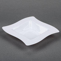 Fineline Wavetrends 112-WH White Plastic Bowl 12 oz. - 120 / Case