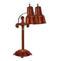 Hanson Brass DLM/RB9/ANT/SC Portable Single 9 inch Smoked Copper Freestanding Heat Lamp with Dual Bulbs and Round Antique Style Base