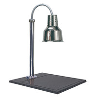 Hanson Brass SLM/BB/600ST Single Bulb Streamline Style 20 inch x 24 inch Stainless Steel Carving Station with Synthetic Granite Base