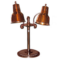 Hanson Brass DLM/RB9-SOL/SC Portable Single 9 inch Smoked Copper Freestanding Heat Lamp with Dual Bulbs and Round Solid Style Base