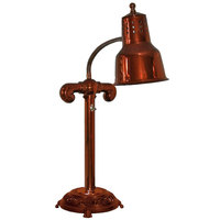 Hanson Heat Lamps SLM/RB9-ANT/SC Stainless Steel Single Bulb Flexible Freestanding Heat Lamp on 9 inch Antique Style Base with Smoked Copper Finish
