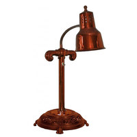 Hanson Brass SLM/RB12-ANT/SC Stainless Steel Single Bulb Flexible Freestanding Heat Lamp on 12 inch Antique Style Round Base with Smoked Copper Finish
