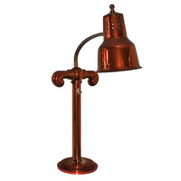 Hanson Heat Lamps SLM/RB7-SOL/SC Stainless Steel Single Bulb Flexible Freestanding Heat Lamp on 7 inch Round Solid Base with Smoked Copper Finish