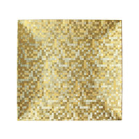 The Jay Companies 12 inch x 12 inch Square Gold Mosaic Polypropylene Charger Plate