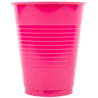 Creative Converting 28177081 16 oz. Hot Magenta Pink Plastic Cup - 240/Case