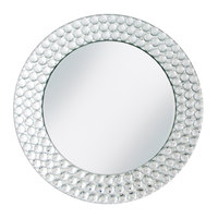The Jay Companies 13 inch Round Dot Glass Mirror Charger Plate