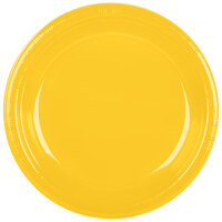 Creative Converting 28102131B 10 inch School Bus Yellow Plastic Banquet Plate - 600 / Case