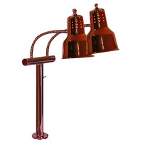Hanson Brass EDL/FM/SC Dual Bulb Flexible Heat Lamp with Smoked Copper Finish