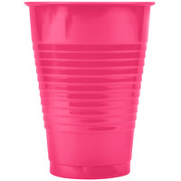 Creative Converting 28177071 12 oz. Hot Magenta Plastic Cup - 240/Case