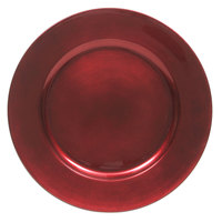 The Jay Companies 13 inch Round Red Polypropylene Charger Plate